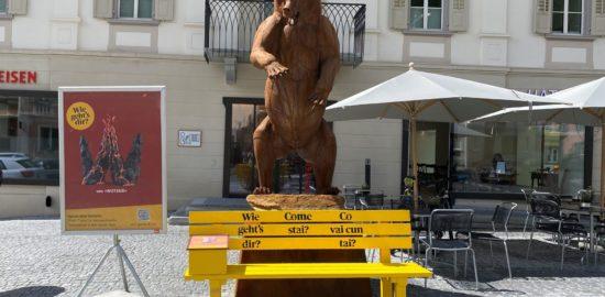 Bänkli Zernez Dorfplatz